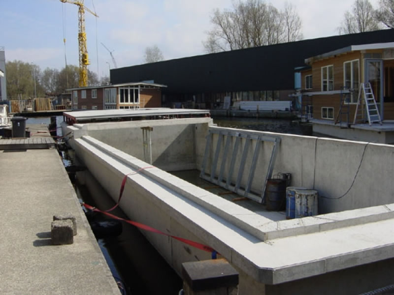 Hausboot Materialien Beton