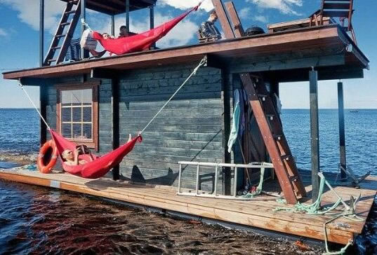 Hausboot Materialien Holz