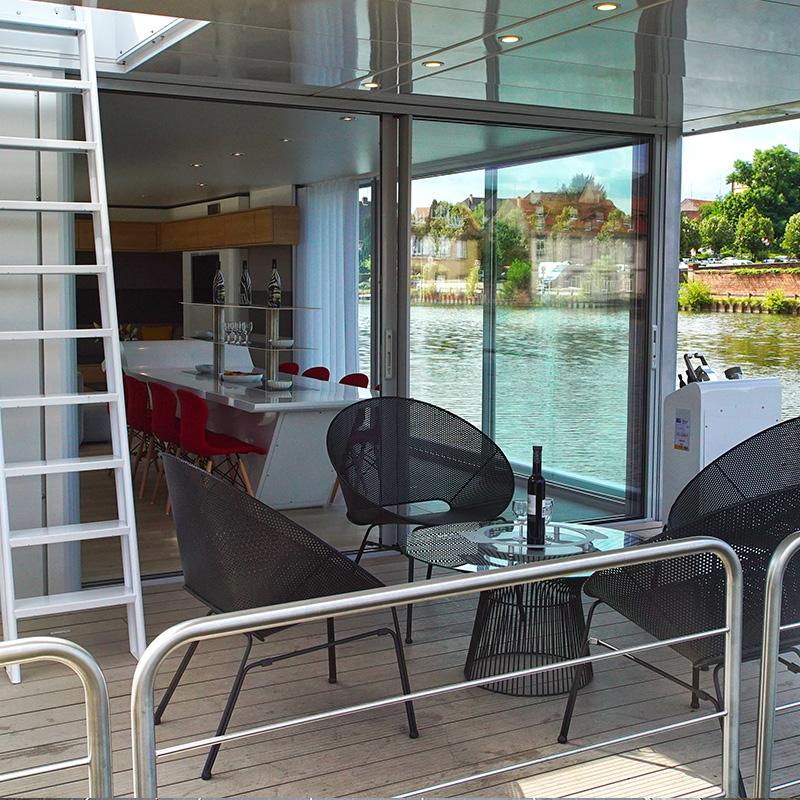 Hausboot kaufen - Terrasse Hausboot