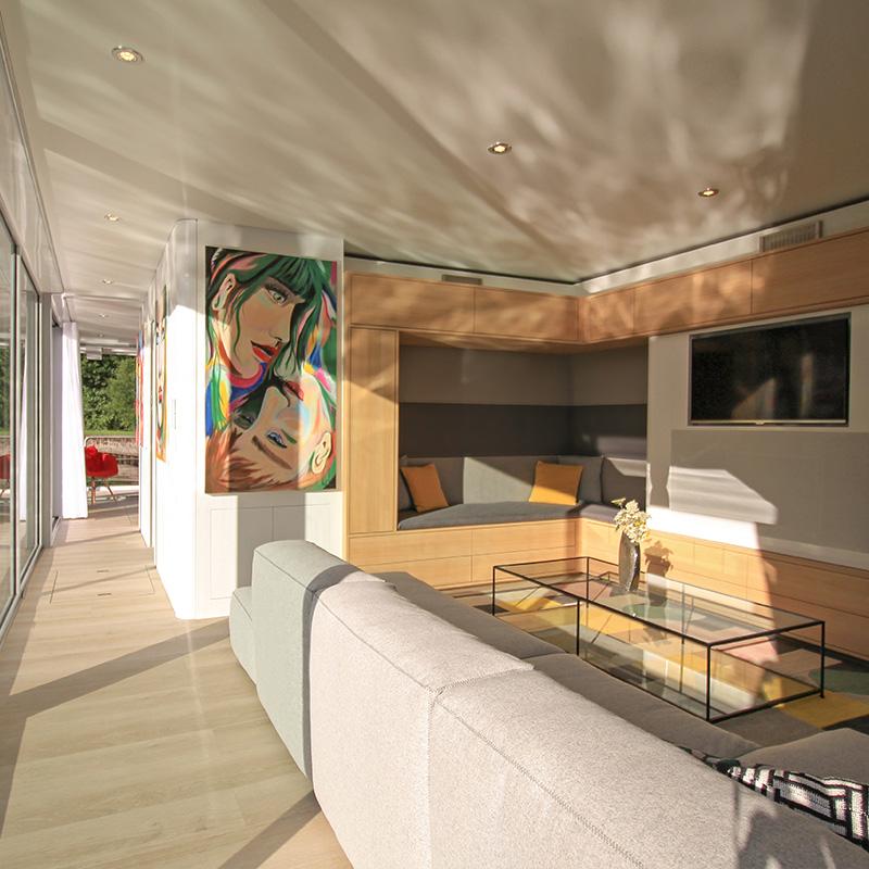 Hausboot kaufen - Hausboot Wohnbereich